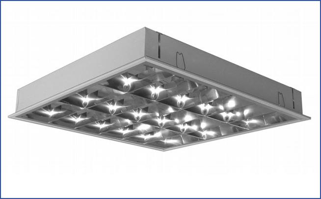 Встраиваемый растровый светильник ITCL