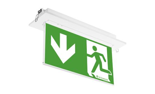 Cветодиодный встраиваемый светильник эвакуационного освещения ONTEC PP